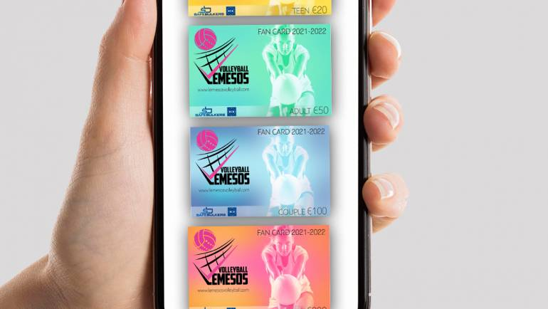 e- Fan Card of Lemesos Volleyball for the 2021 – 2022 season